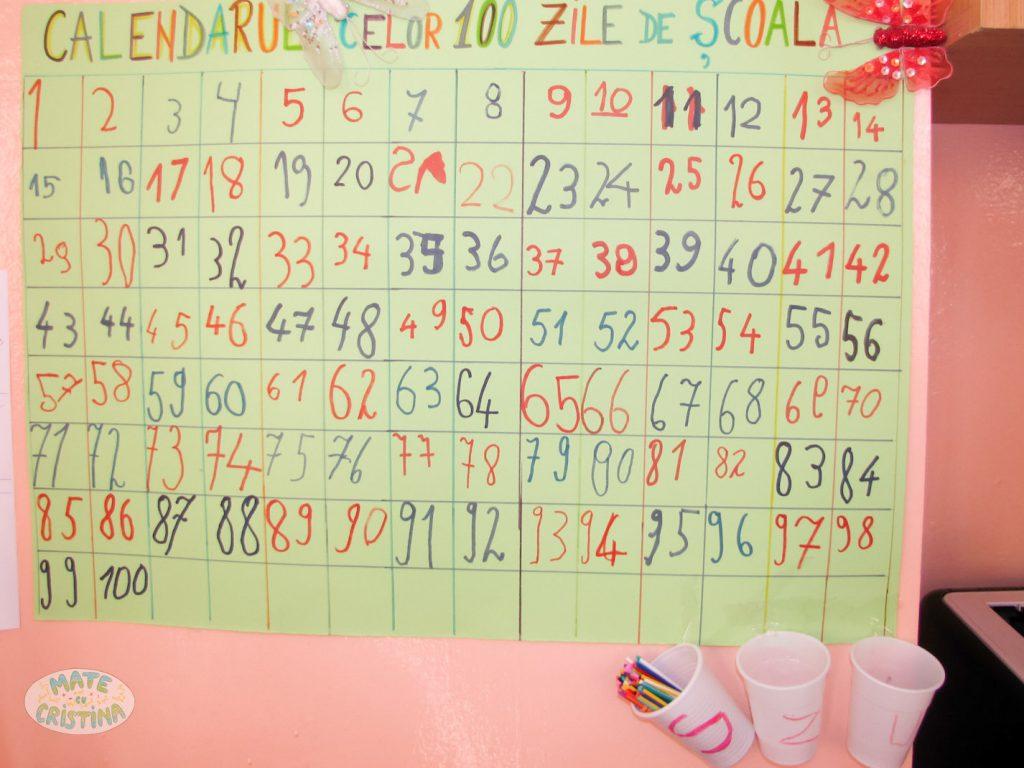 calendarul celor 100 de zile de scoala